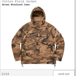 Supreme cotton Field jacket in camo